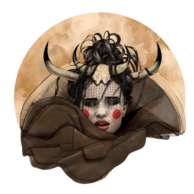mustafa-soydan-zodiac-illustrations-taurus