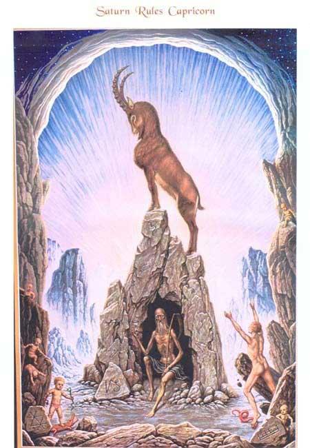Johfra-Bosschart-Capricorn-paintingCapricorn Goat Art