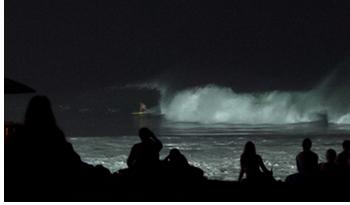 Keramas beach night surfing