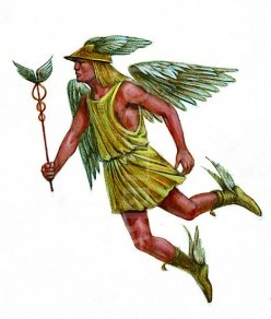 Mercury the winged messenger