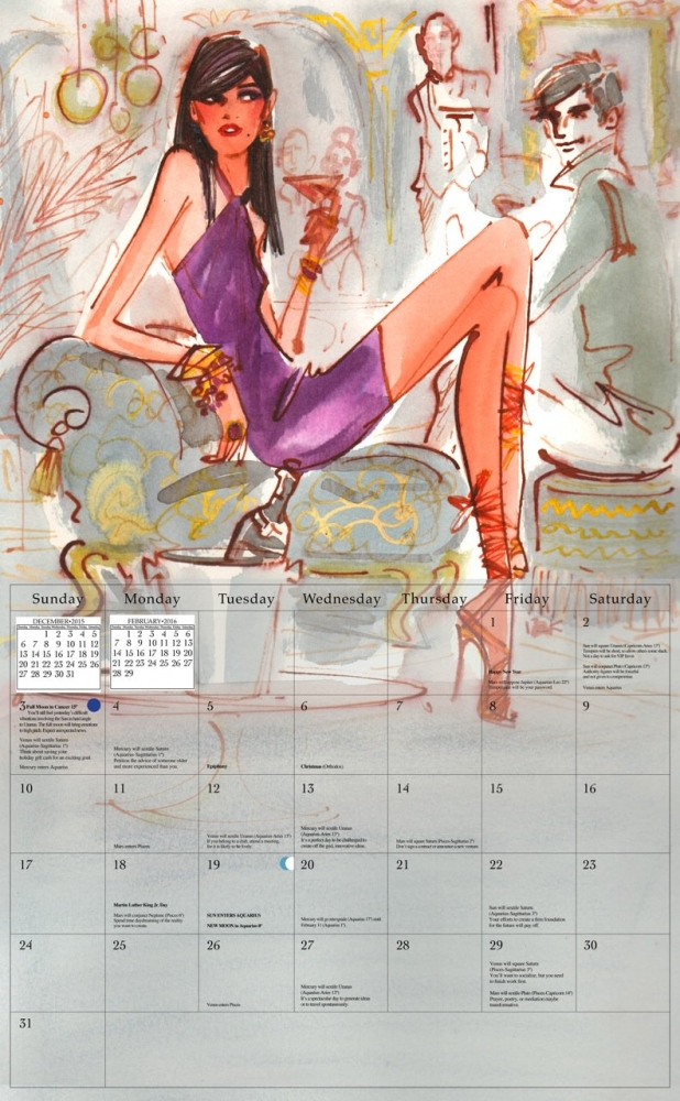 Art Zone Calendar : Susan miller calendar star sign style