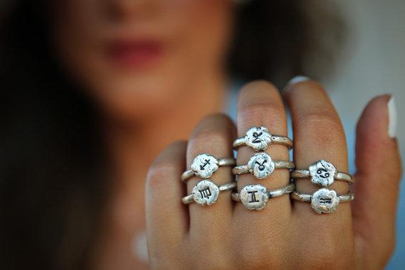 Verameat Zodiac Rings