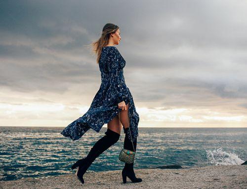 Rixo Zodiac Print Dress