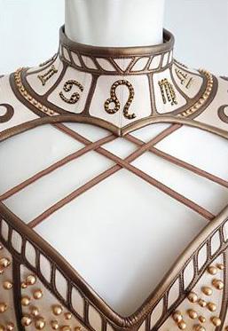 front view zodiac corset
