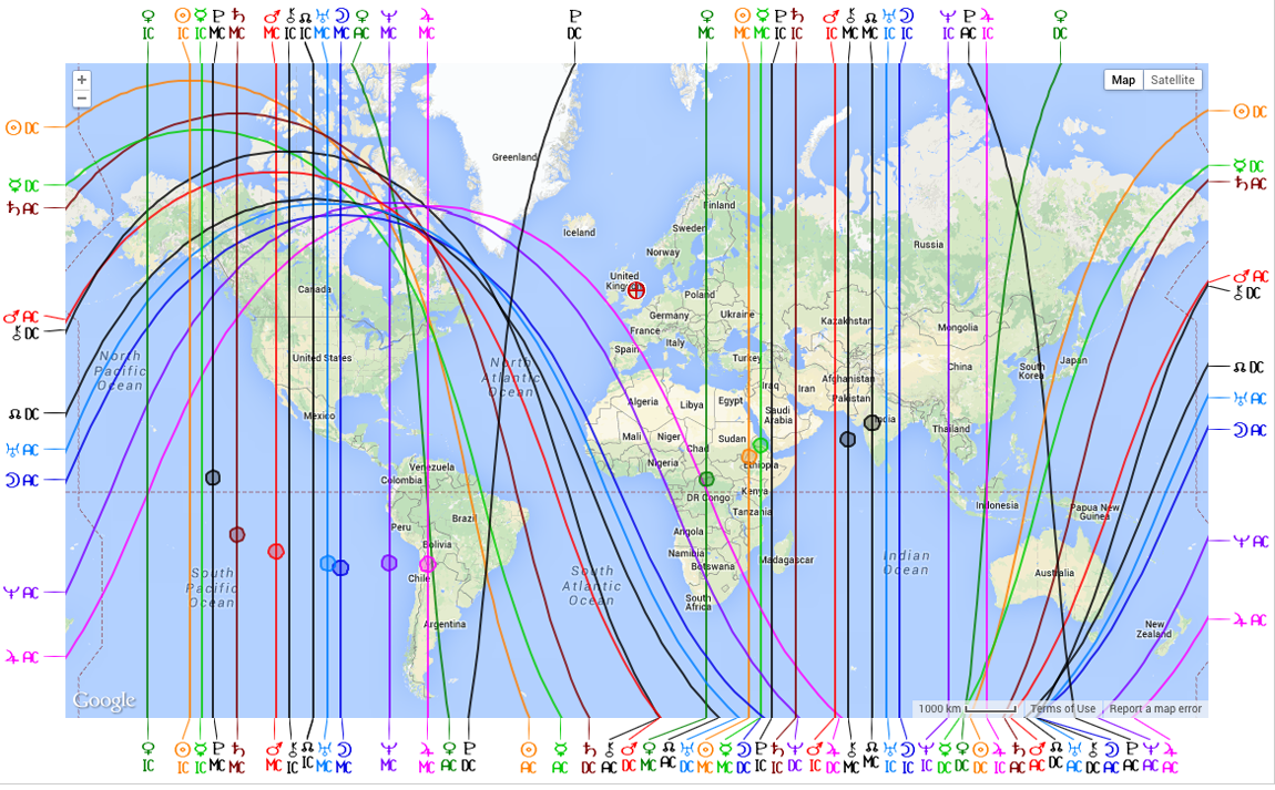 AstroCartoGraphy And How To Generate An Astro Map Free Online