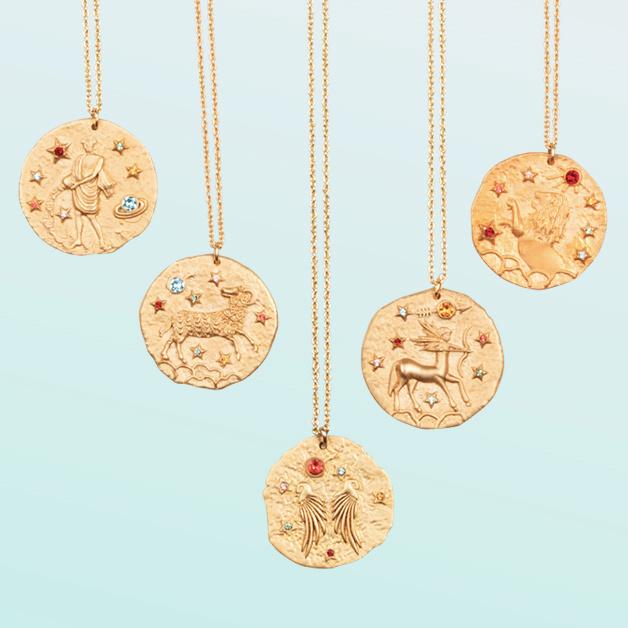 Astrology Inspired Jewellery Maje Zodiac Necklaces Gorgeous Gold