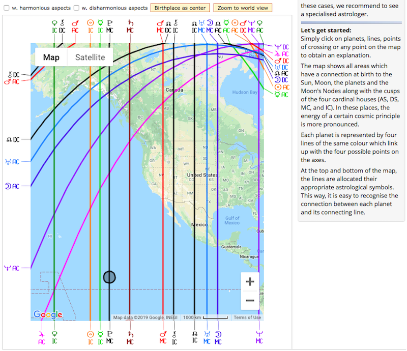 Discover AstroCartoGraphy and your personal map to use over and over again...